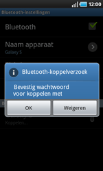 Samsung I9000 Galaxy S - bluetooth - headset, carkit verbinding - stap 8