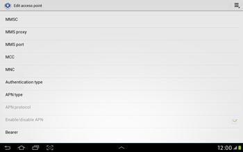 Samsung Galaxy Tab 2 10.1 - Internet and data roaming - Manual configuration - Step 14