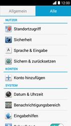 Huawei Ascend Y530 - Fehlerbehebung - Handy zurücksetzen - Schritt 6