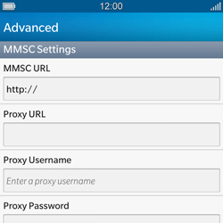 BlackBerry Q10 - MMS - Manual configuration - Step 10