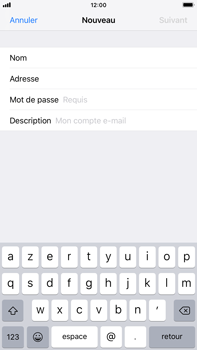 Apple iPhone 8 Plus - iOS 12 - E-mail - Configuration manuelle - Étape 9
