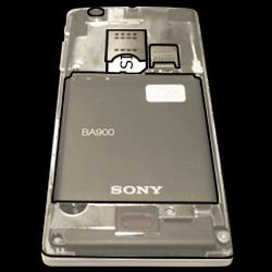Sony Xperia J - SIM-Karte - Einlegen - Schritt 4
