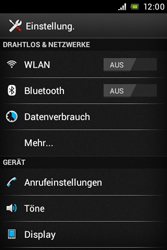 Sony Xperia Miro - Anrufe - Rufumleitungen setzen und löschen - 4 / 9