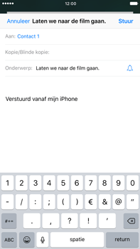 Apple iPhone 6 Plus iOS 10 - E-mail - E-mail versturen - Stap 7