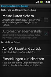 Sony Xperia Go - Fehlerbehebung - Handy zurücksetzen - 7 / 10