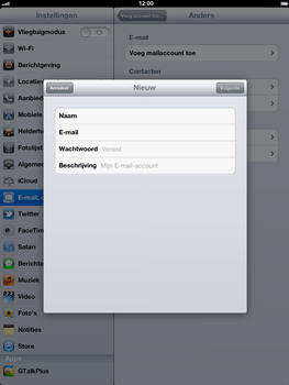 Apple The New iPad - E-mail - handmatig instellen - Stap 8