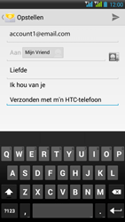 HTC Desire 516 - E-mail - E-mails verzenden - Stap 11