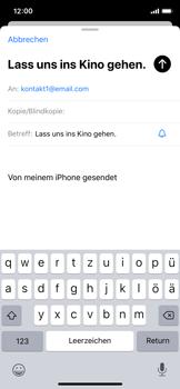 Apple iPhone X - iOS 13 - E-Mail - E-Mail versenden - Schritt 7