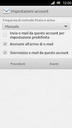 Sony Xperia U - E-mail - Configurazione manuale - Fase 13