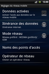 Sony Ericsson Xperia Mini Pro - Internet - activer ou désactiver - Étape 6