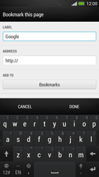 HTC One - Internet and data roaming - Using the Internet - Step 7