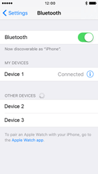 Apple iPhone 5 iOS 9 - Bluetooth - Connecting devices - Step 8