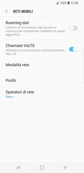 Samsung Galaxy S8 - Rete - Selezione manuale della rete - Fase 11