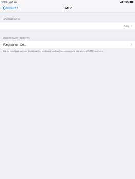 Apple ipad-air-ios-12 - E-mail - Account instellen (POP3 met SMTP-verificatie) - Stap 20