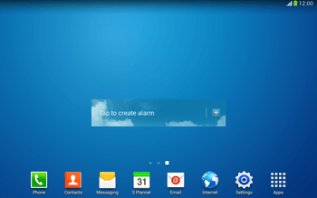 Samsung Galaxy Tab 3 10-1 LTE - Getting started - Installing widgets and applications on your start screen - Step 9