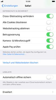 Apple iPhone 8 Plus - iOS 11 - Neue Datenschutz- und Sicherheitsfunktionen für Safari aktivieren - 2 / 2