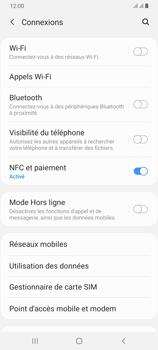 Samsung Galaxy A70 - Internet et roaming de données - Comment vérifier que la connexion des données est activée - Étape 5
