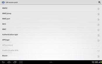 Samsung N8000 Galaxy Note 10-1 - MMS - Manual configuration - Step 11