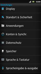 Sony Xperia U - Fehlerbehebung - Handy zurücksetzen - 6 / 10