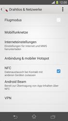 Sony Xperia Z1 - Internet und Datenroaming - Prüfen, ob Datenkonnektivität aktiviert ist - Schritt 5