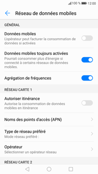 Huawei Mate 9 - Internet et roaming de données - Comment vérifier que la connexion des données est activée - Étape 5