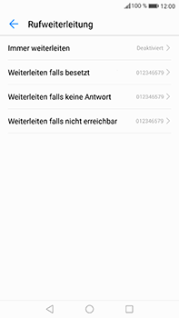 Huawei Mate 9 - Anrufe - Rufumleitungen setzen und löschen - 6 / 9