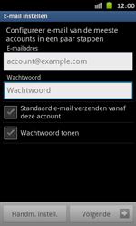 Samsung I9070 Galaxy S Advance - E-mail - Handmatig instellen - Stap 5