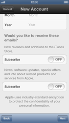Apple iPhone 5 - Applications - Create an account - Step 11