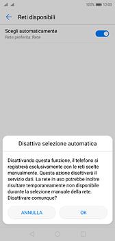 Huawei P20 - Rete - Selezione manuale della rete - Fase 7