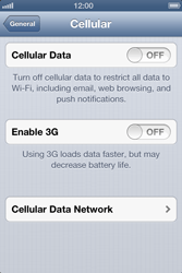 Apple iPhone 4 - Internet and data roaming - manual configuration - Step 5