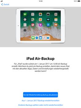 Apple iPad Air 2 - iOS 11 - Persönliche Einstellungen von einem alten iPhone übertragen - 17 / 29