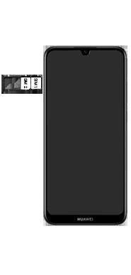 Huawei Y6 (2019) - Toestel - Simkaart plaatsen - Stap 5