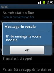 Samsung S5300 Galaxy Pocket - Messagerie vocale - Configuration manuelle - Étape 7
