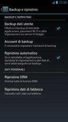 Alcatel One Touch Idol - Dispositivo - ripristino delle impostazioni originali - Fase 6