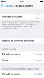 Apple iPhone 5c iOS 8 - Internet et roaming de données - Comment vérifier que la connexion des données est activée - Étape 4