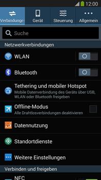 Samsung Galaxy Note III LTE - Internet und Datenroaming - Prüfen, ob Datenkonnektivität aktiviert ist - Schritt 4