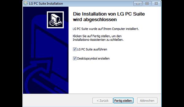 LG D955 G Flex - Software - Installieren von Software zur PC-Synchronisierung - Schritt 11