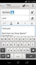 Sony D2203 Xperia E3 - E-mail - Sending emails - Step 10