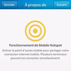 BlackBerry Q10 - Internet et connexion - Partager votre connexion en Wi-Fi - Étape 6