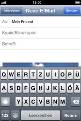Apple iPhone 4 - E-Mail - E-Mail versenden - 0 / 0