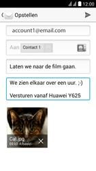 Huawei Y625 - E-mail - e-mail versturen - Stap 15