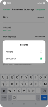 Oppo A53s - Internet et connexion - Partager votre connexion en Wi-Fi - Étape 8
