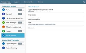 Samsung T535 Galaxy Tab 4 10.1 - Réseau - Sélection manuelle du réseau - Étape 5