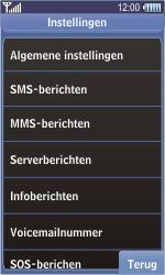 Samsung S8500 Wave - SMS - handmatig instellen - Stap 5