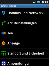 Samsung S5570 Galaxy Mini - Netzwerk - Netzwerkeinstellungen ändern - Schritt 4