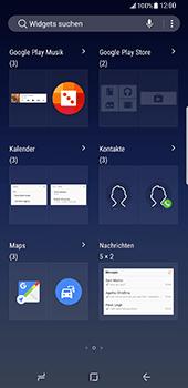 Samsung Galaxy S8 Plus - Startanleitung - Installieren von Widgets und Apps auf der Startseite - Schritt 4