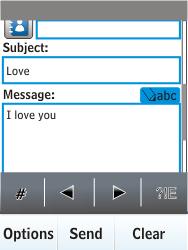 Nokia X3-02 - E-mail - Sending emails - Step 10