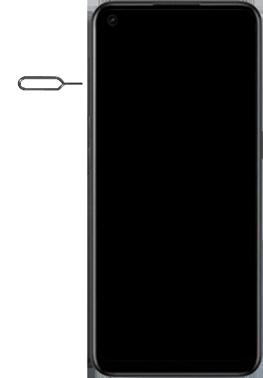 Oppo A53s - Premiers pas - Insérer la carte SIM - Étape 2