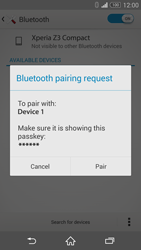 Sony Xperia Z3 Compact - Bluetooth - Connecting devices - Step 7