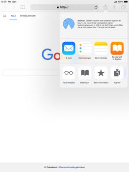 Apple iPad Air 2 - iOS 12 - Internet - internetten - Stap 5